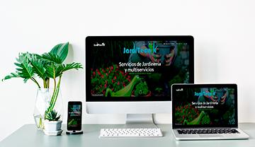 diseño web de jardinero